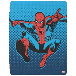 Retro Spider-Man Web Shooting iPad Cover