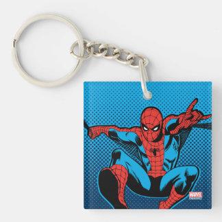Retro Spider-Man Web Shooting Keychain