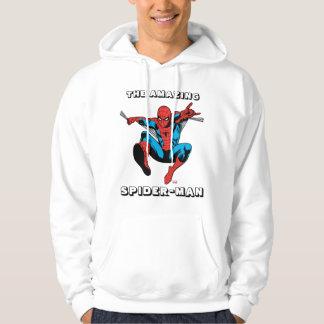 Retro Spider-Man Web Shooting Pullover
