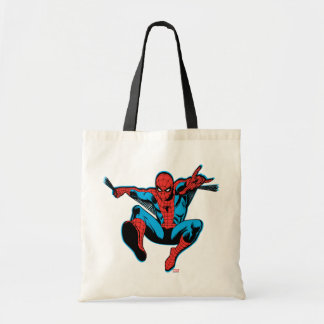 Retro Spider-Man Web Shooting Tote Bag