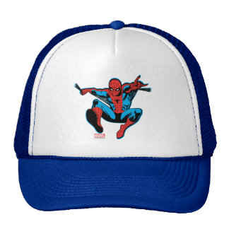 Retro Spider-Man Web Shooting Trucker Hat