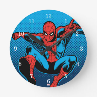 Retro Spider-Man Web Shooting Wallclock
