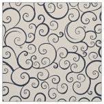 Retro Spiral Pattern Fabric