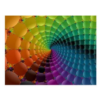 retro spiral postcard