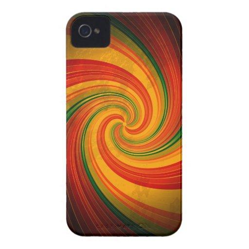 Retro Spiral Swirl Colorful Pattern Blackberry Bol Blackberry Bold Case