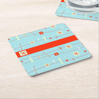 Retro Square Paper Coaster