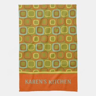 Retro Squares Kitchen Towel