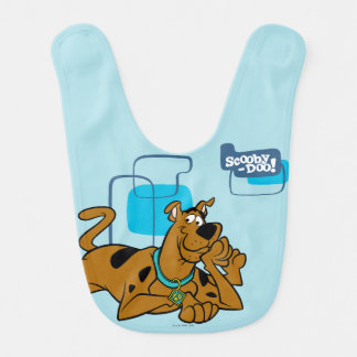 Retro Squares Scooby-Doo Lying Down Baby Bibs