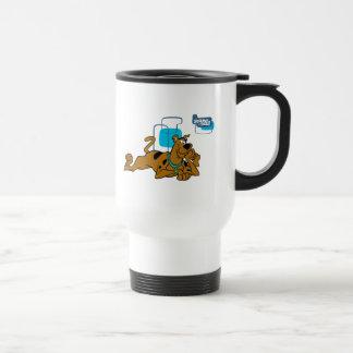 Retro Squares Scooby-Doo Lying Down Travel Mug