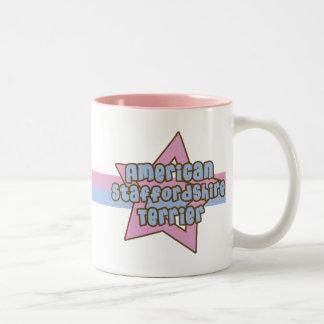 Retro Star American Staffordshire Terrier Two-Tone Coffee Mug