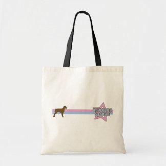 Retro Star Brittany Spaniel Tote Bag