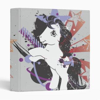 Retro Star Design Vinyl Binder
