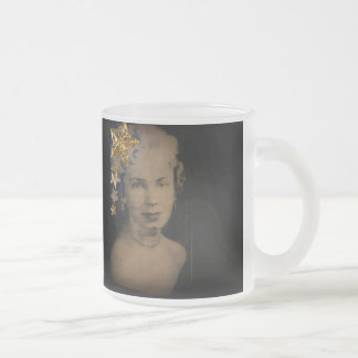 'Retro Star' Frosted Glass Mug