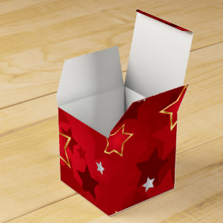 Retro Star Pattern Favor Box