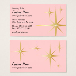 Retro Starburst Business Card - Pink
