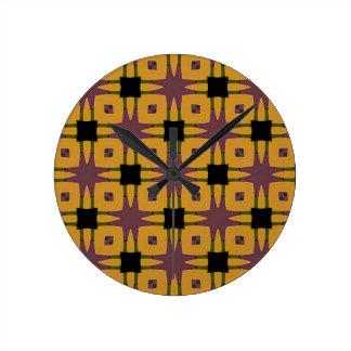 Retro starburst fun design round clock