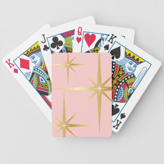 Retro Starburst Pink Playing Cards