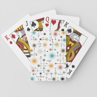 Retro Starbursts A Go-Go! Playing Cards