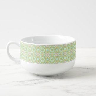 Retro stars pattern soup mug