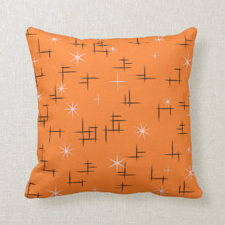 Retro Stars Throw Pillow