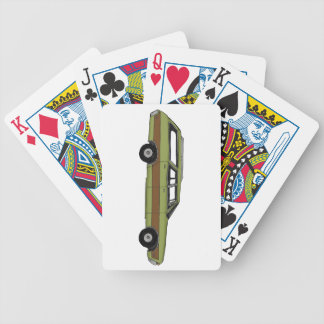 retro station wagon bicycle playing cards