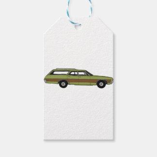 retro station wagon gift tags