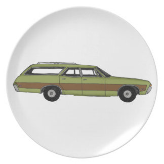 retro station wagon plate