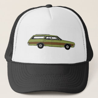 retro station wagon trucker hat