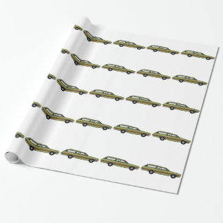 retro station wagon wrapping paper