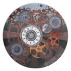 Retro steampunk watch parts, gears and cogs print plate