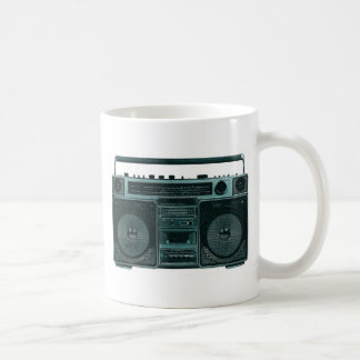 retro stereo basic white mug