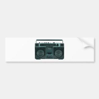 retro stereo bumper sticker