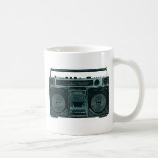 retro stereo classic white coffee mug