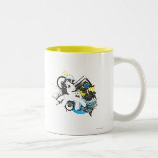 Retro Stereo Design Two-Tone Coffee Mug