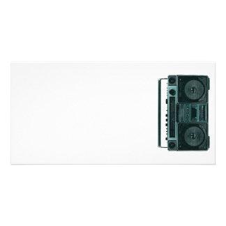 retro stereo photo card