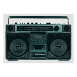 retro stereo poster