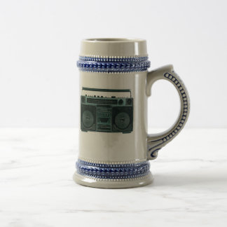 retro stereo stein mugs