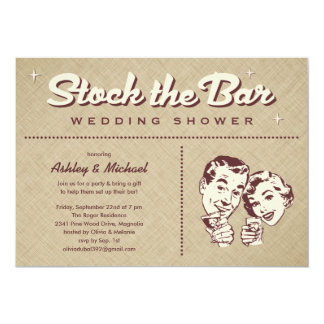 Retro Stock The Bar Party Invitations