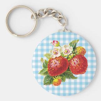 Retro Strawberry Keychain