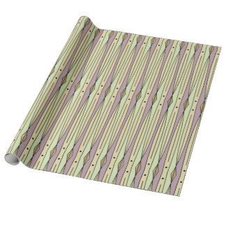 Retro String Art (Pistachio, Mauve Mist and Sand) Wrapping Paper