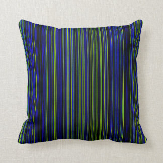 Retro stripe lime green blue decor pillow