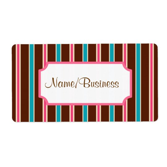 Retro Striped Business Labels
