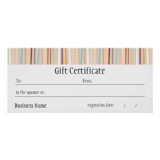 Retro Stripes Bright Gift Certificate
