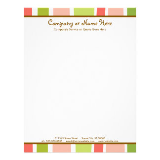 retro stripes letterhead