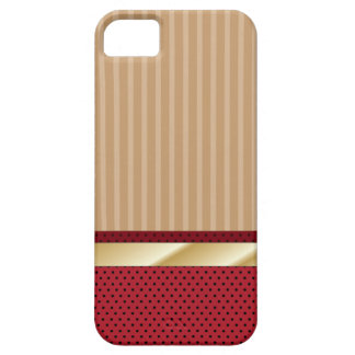 Retro Stripes & Strawberry Dots iPhone 5 Case