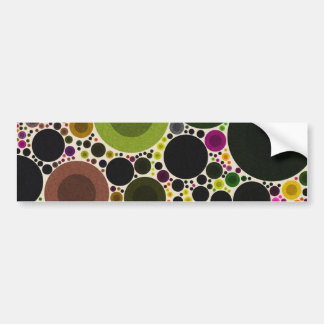 Retro Style Abstract Bumper Sticker