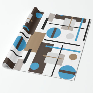 Retro style Abstract design pattern Wrapping Paper