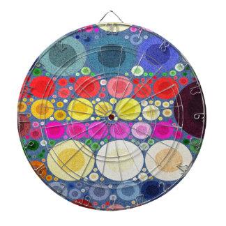 Retro Style Abstract Textured Polka-Dots Dartboard