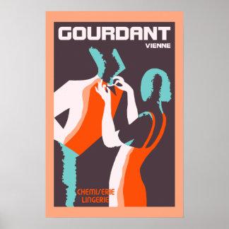 Retro style Art Deco French fashion ad Poster