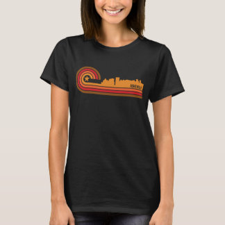 Retro Style Asheville North Carolina Skyline T-Shirt